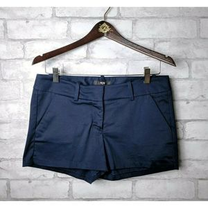 Mossimo Navy Flat Front Shorts Classic Fit